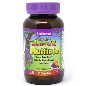 Мультивитамины для Детей, Вкус Винограда, Rainforest Animalz, Bluebonnet Nutrition