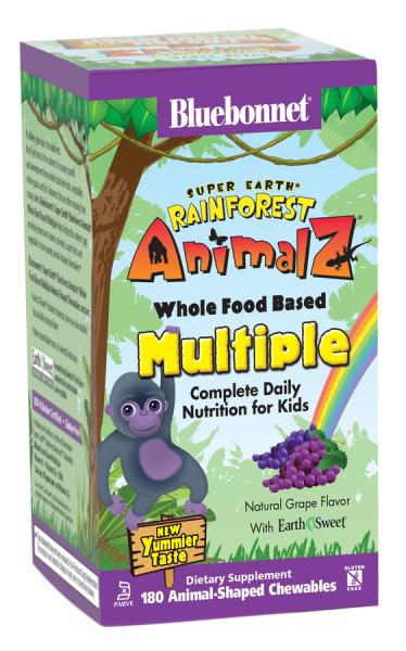 Мультивитамины для Детей, Rainforest Animalz, Bluebonnet Nutrition, 180 жевательных конфет