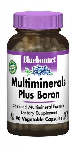 Мультиминералы + Бор с Железом, Bluebonnet Nutrition