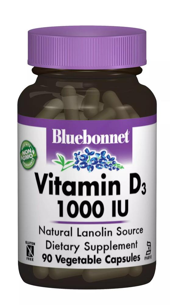 Витамин D3 1000IU, Bluebonnet Nutrition