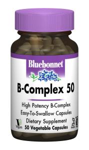 В-Комплекс 50, Bluebonnet Nutrition, 50 гелевых капсул