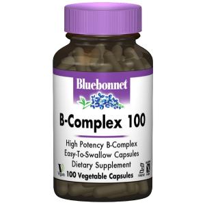 В-Комплекс 100, Bluebonnet Nutrition, 100 гелевых капсул