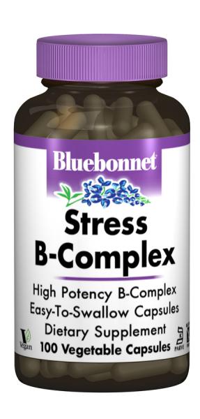 Стресс В-Комплекс 100, Bluebonnet Nutrition, 100 гелевых капсул