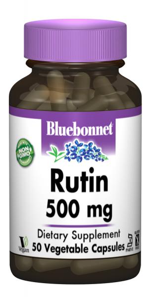 Рутин 500мг, Bluebonnet Nutrition, 50 гелевых капсул