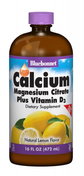 Жидкий Кальций Цитрат Магния + Витамин D3, Bluebonnet Nutrition, 16 жидких унций (472 мл)