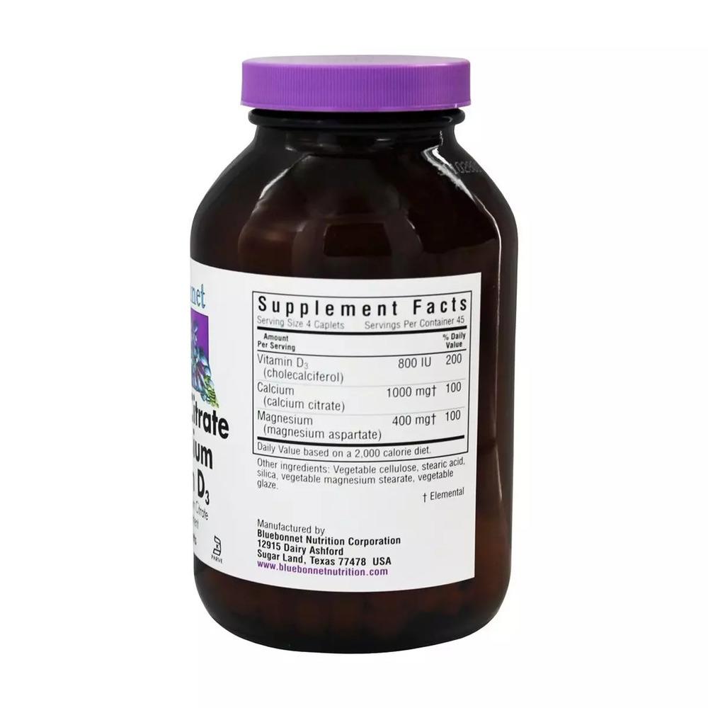 Цитрат Кальция Магний + Витамин D3, Bluebonnet Nutrition