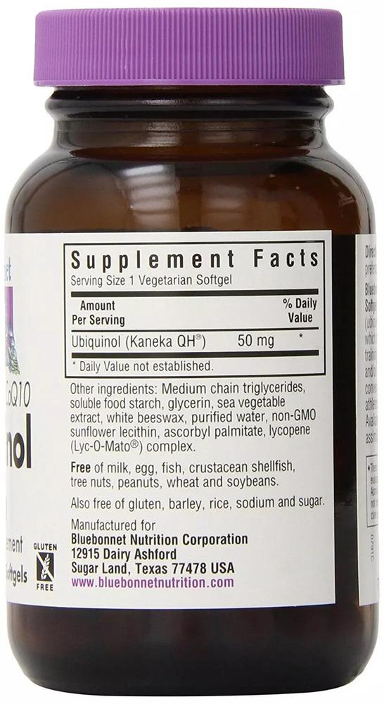 Убихинол 50мг, Cellular Active, Bluebonnet Nutrition