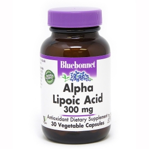 Альфа Липоевая Кислота 300 мг, Bluebonnet Nutrition, 30 растительных капсул