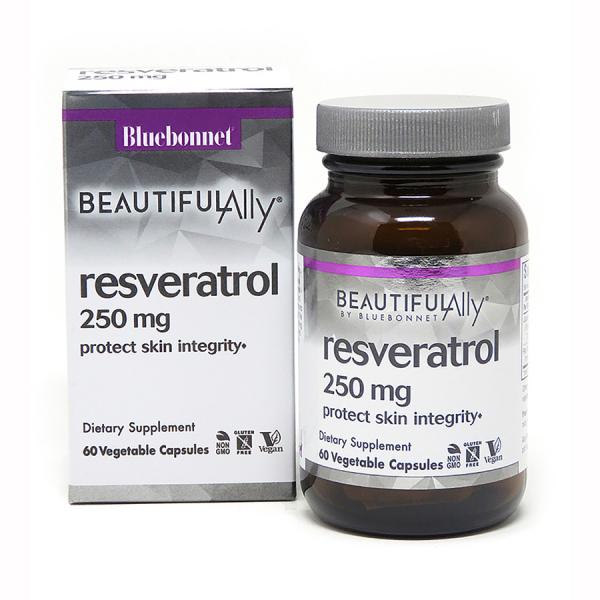 Ресвератрол 250 мг, Beautiful Ally, Bluebonnet Nutrition