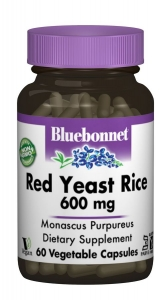 Красный Дрожжевой Рис 600мг, Bluebonnet Nutrition, 60 гелевых капсул