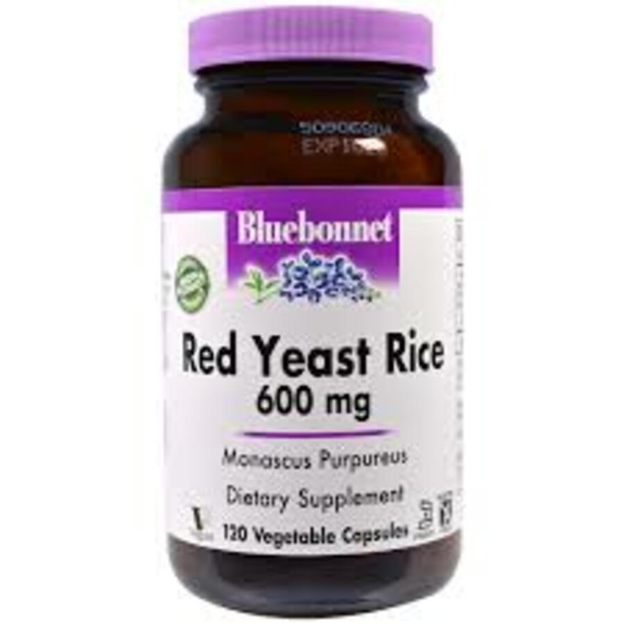 Красный Дрожжевой Рис 600мг, Bluebonnet Nutrition