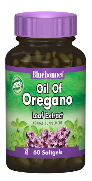Экстракт из Листьев Орегано, Bluebonnet Nutrition, 60 желатиновых капсул