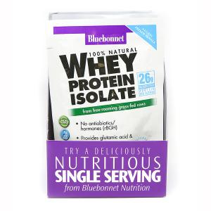 Изолят сывороточного протеина, Whey Protein Isolate, Bluebonnet Nutrition, 8 пакетиков