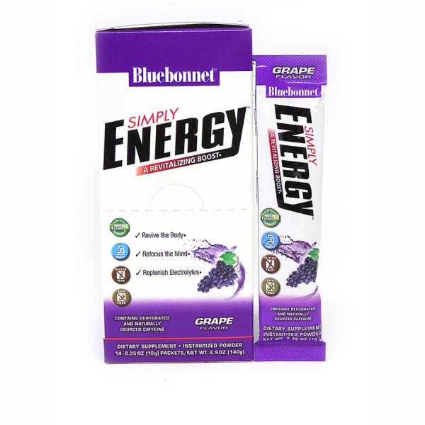 Энергетический напиток в порошке, Bluebonnet Nutrition, Simply Energy