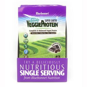 Органический растительный Протеин, Вкус Моккачино, Super Earth, Bluebonnet Nutrition, 8 пакетиков