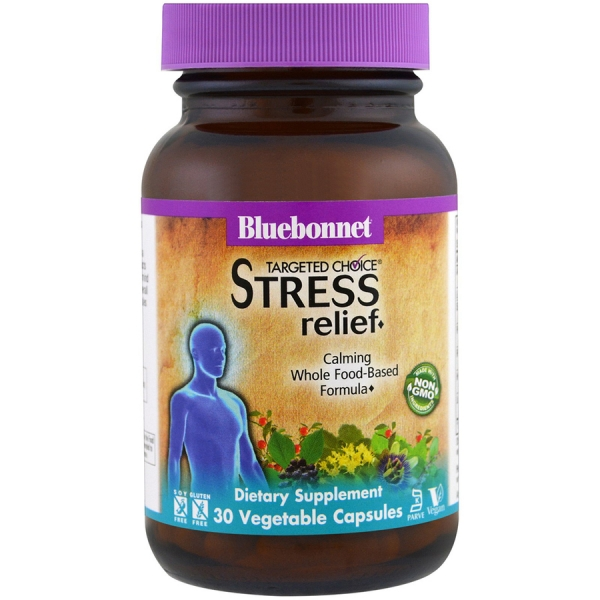 Комплекс для Снятия Стресса, Targeted Choice Stress Relief, Bluebonnet Nutrition, 30 вегетарианских капсул