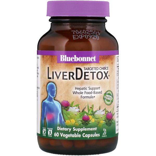 Комплекс для Детоксикации Печени, Liver Detox, Targeted Choice, Bluebonnet Nutrition