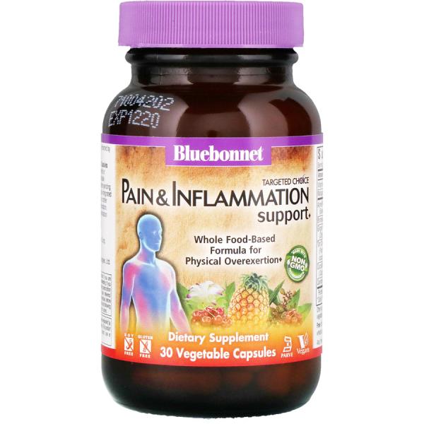 Комплекс против боли и воспалений в суставах, Pain & Inflammation Support, Targeted Choice, Bluebonnet Nutrition, 30 растительных капсул