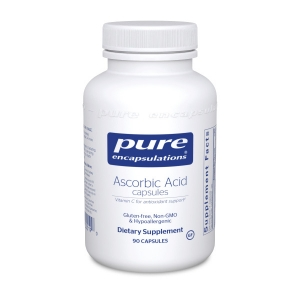 Аскорбиновая Кислота, Ascorbic Acid Capsules, Pure Encapsulations, 90 капсул