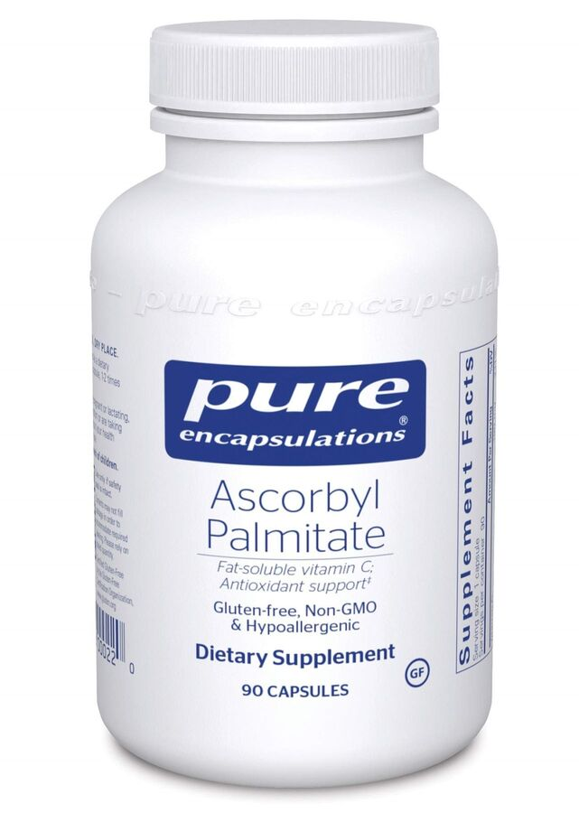 Аскорбилпальмитат, Ascorbyl Palmitate, Pure Encapsulations, 90 капсул