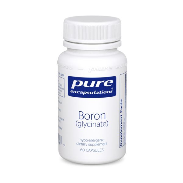 Бор (глицинат), Boron (glycinate), Pure Encapsulations, 60 капсул
