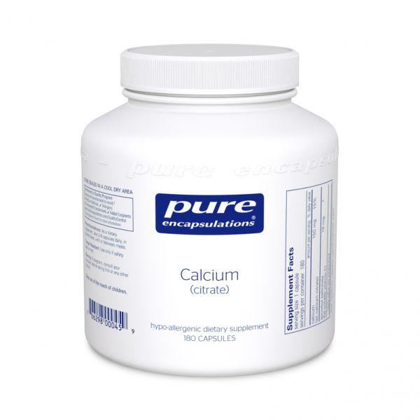 Кальций цитрат, Calcium (citrate), Pure Encapsulations, 180 капсул