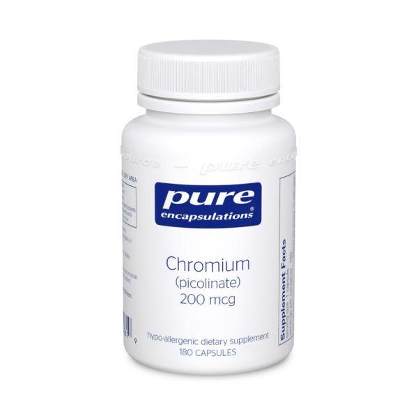 Хром пиколинат, Chromium picolinate, Pure Encapsulations, 200 мкг