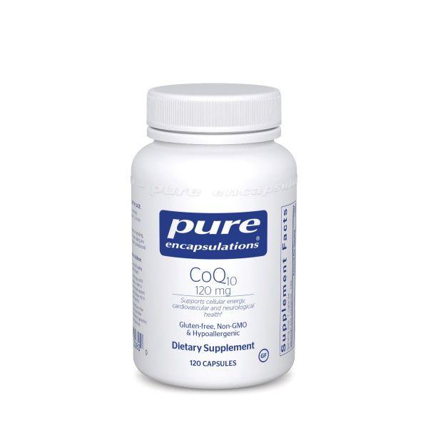 Коэнзим Q10, CoQ10, Pure Encapsulations, 120 мг