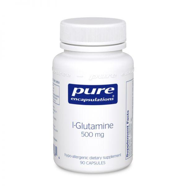 L-глютамин 500 мг, l-Glutamine 500 mg, Pure Encapsulations, 90 капсул