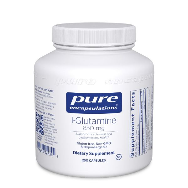 L-глютамин 1000 мг, l-Glutamine 1000 mg, Pure Encapsulations