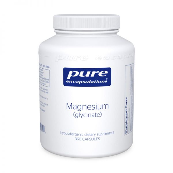Магний глицинат, Magnesium glycinate, Pure Encapsulations, 120 мг