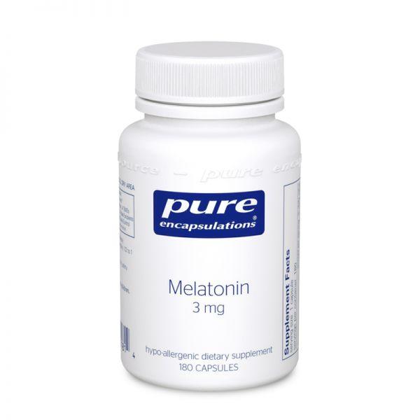 Мелатонин, Melatonin, Pure Encapsulations, 3 мг