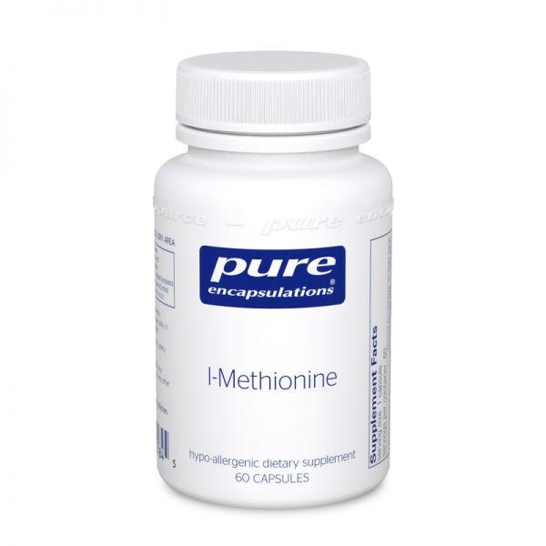 L-метионин, l-Methionine, Pure Encapsulations, 60 капсул