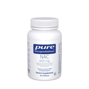 NAC N-ацетилцистеин 600 мг, NAC (n-acetyl-l-cysteine) 600 mg, Pure Encapsulations, 90 капсул