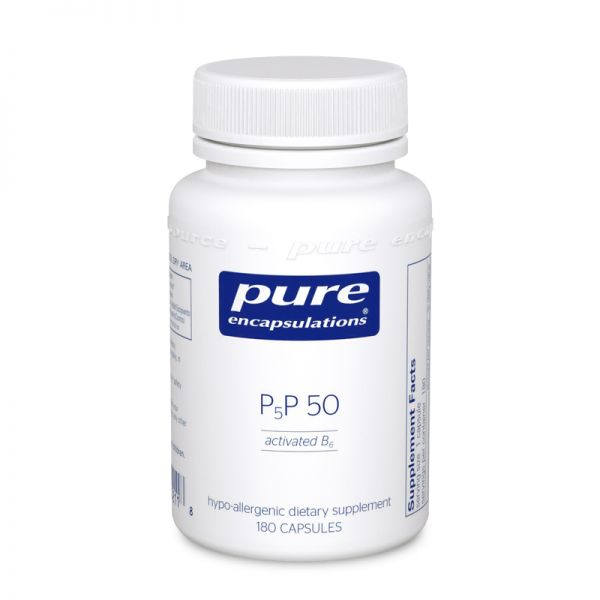 Витамин B6 (Пиридоксаль-5-Фосфат), P5P 50 (vitamin B6), Pure Encapsulations