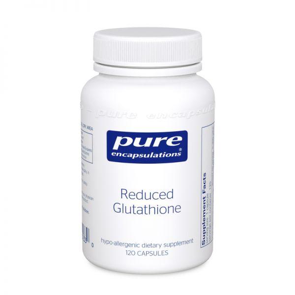 Востановленный Глутатион, Reduced Glutathione, Pure Encapsulations, 120 капсул