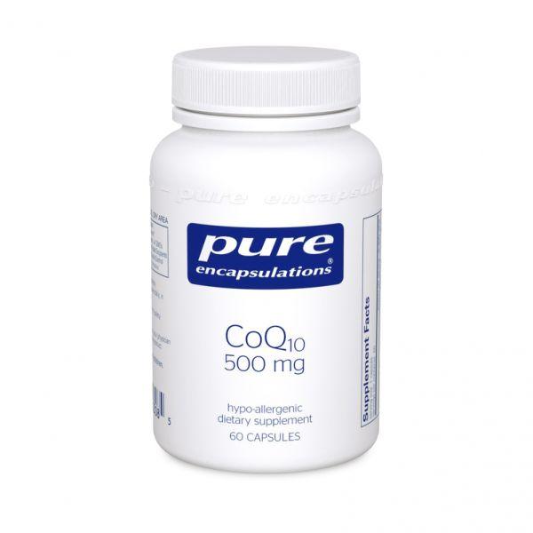 Коэнзим Q10, CoQ10, Pure Encapsulations, 500 мг, 60 капсул