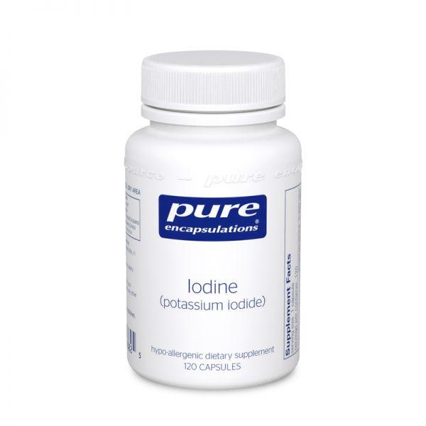 Йод (йодид калия), Iodine (potassium iodide), Pure Encapsulations, 120 капсул