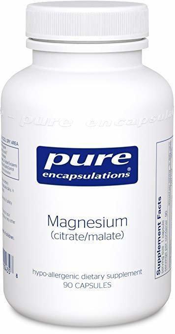 Магний (цитрат/малат), Magnesium (citrate/malate), Pure Encapsulations