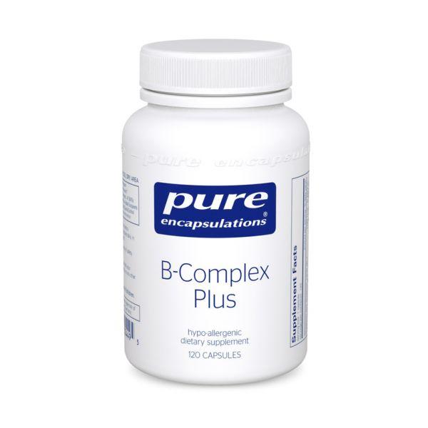 Витамин B, B-Complex Plus, Pure Encapsulations, 120 капсул