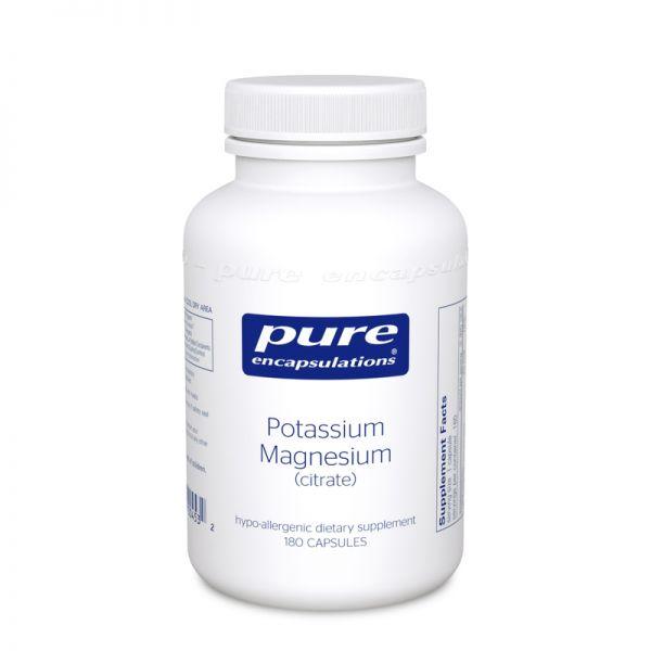 Калий и Магний цитрат, Potassium Magnesium citrate, Pure Encapsulations, 180 капсул