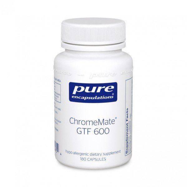 Уникальный полиникотинат хрома, ChromeMate GTF 600, Pure Encapsulations, 60 капсул