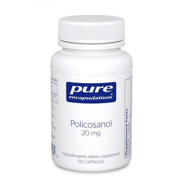 Поликозанол, Policosanol, Pure Encapsulations, 20 мг, 120 капсул