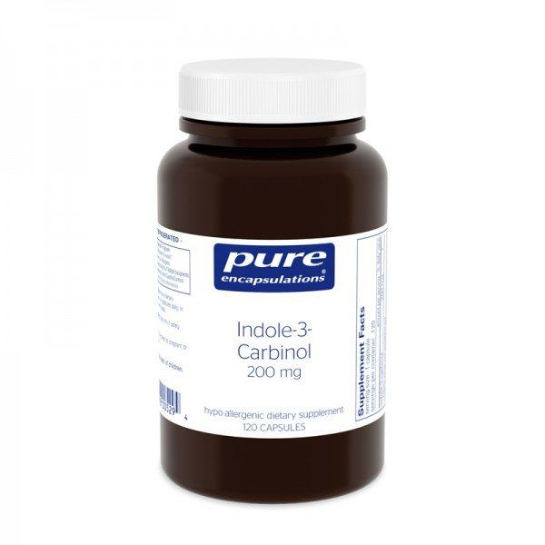Индол-3-Карбинол, Indole-3-Carbinol, Pure Encapsulations, 200 мг