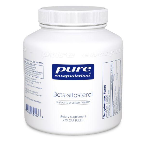 Бета-Ситостерол, Beta-Sitosterol, Pure Encapsulations, 90 капсул