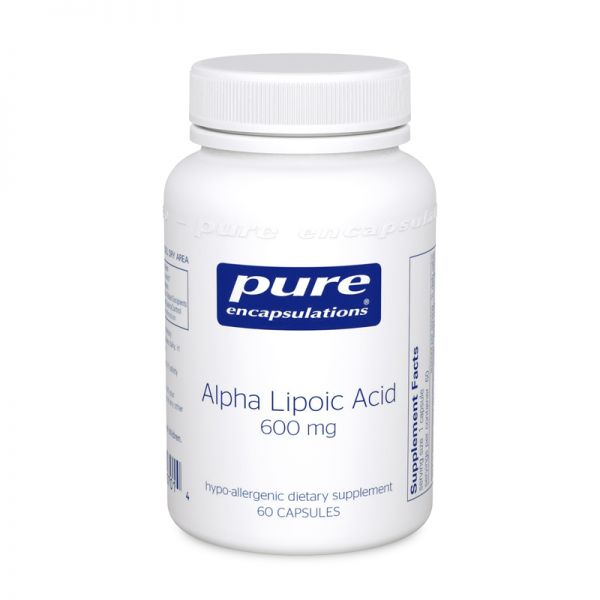 Альфа-липоевая кислота, Alpha Lipoic Acid, Pure Encapsulations, 600 мг, 120 капсул
