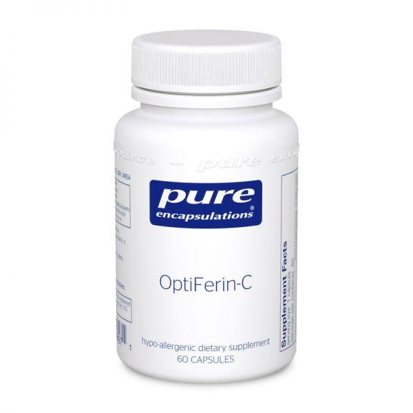Пищевая добавка, OptiFerin-C, Pure Encapsulations, 60 капсул