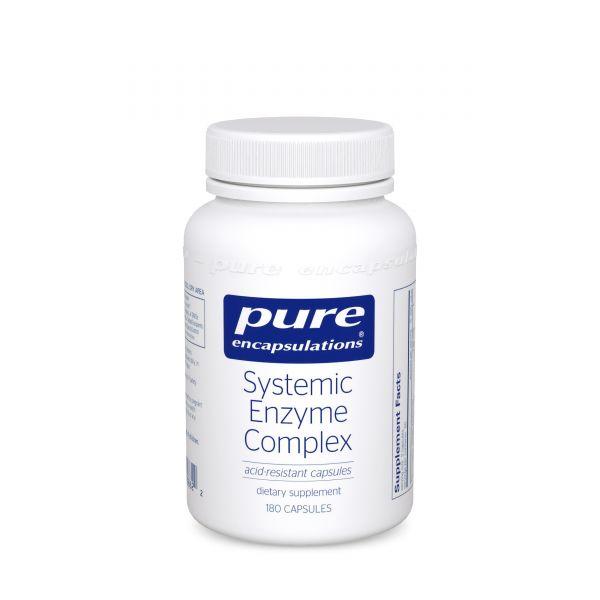 Ферменты для суставов, тканей и мышц, Systemic Enzyme Complex, Pure Encapsulations, комплекс, 180 капсул