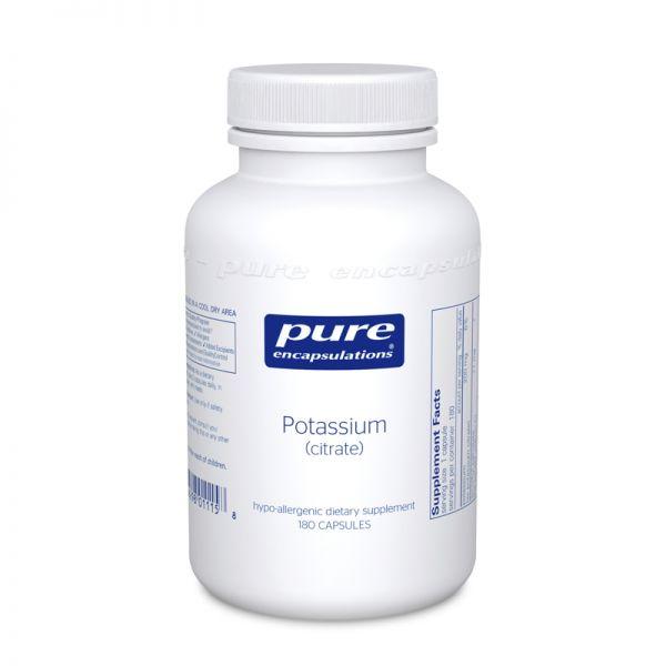 Калий (цитрат), Potassium (citrate), Pure Encapsulations, 180 капсул