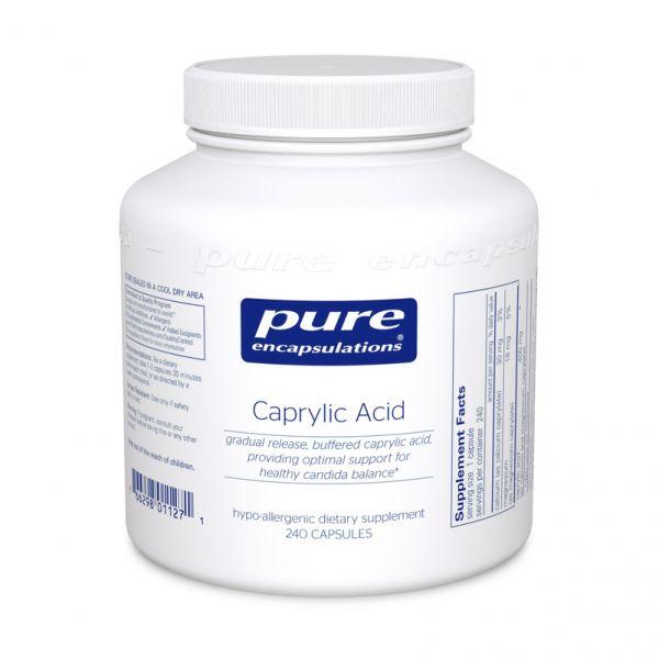 Каприловая кислота, Caprylic Acid, Pure Encapsulations, 120 капсул
